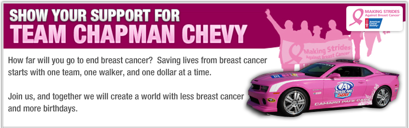 Making Strides to Chapman Chevy